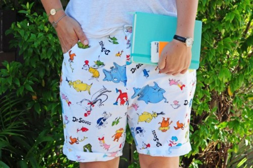 Dr Seuss shorts inspired by prada for Alice Liddell blog